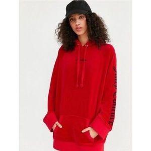 Juicy Couture Oversized Velour Hooded Sweatshirt